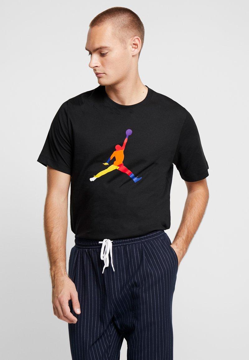 Jordan - FILL CREW - T-shirt imprimé - black