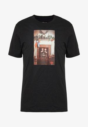 CHIMNEY - T-shirt imprimé - black