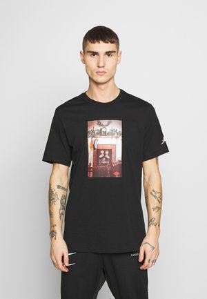 CHIMNEY - T-shirt med print - black