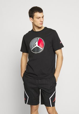 REMASTERED CREW - T-shirt con stampa - black/gym red