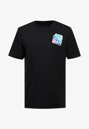 STICKER MASH CREW - T-shirt med print - black