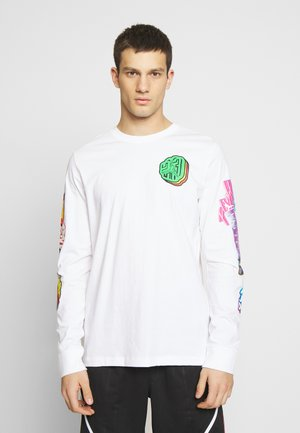 PHOTO REPEAT CREW - Long sleeved top - white