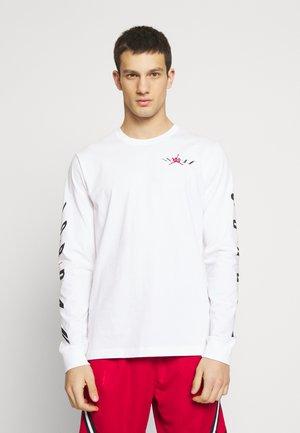 AIR JORDAN TEE - Bluzka z długim rękawem - white