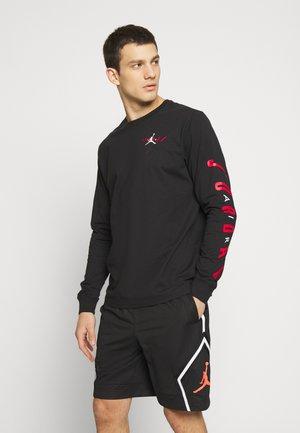 AIR JORDAN TEE - Bluzka z długim rękawem - black