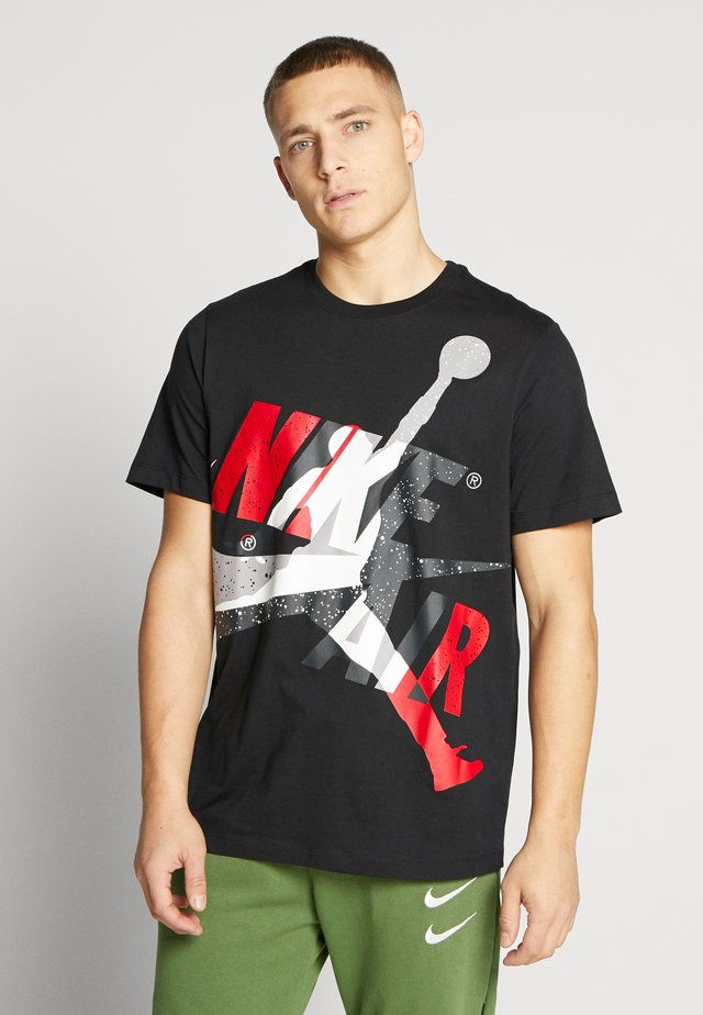 SS CTN JM CLASSICS - T-shirt imprimé - black/white/gym red