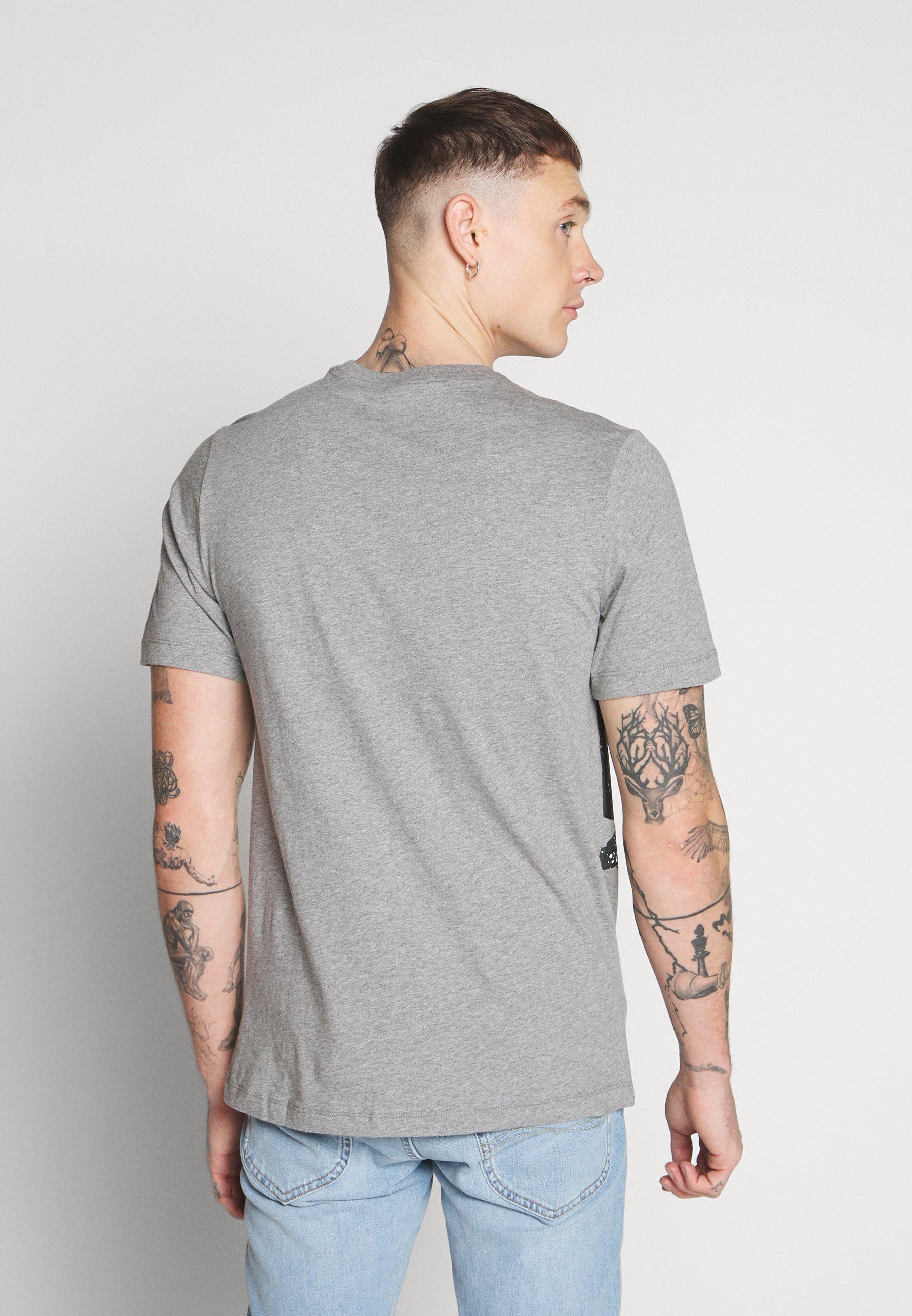 Jordan SS CTN JM CLASSICS HBR CREW - T-shirt z nadrukiem - carbon heather