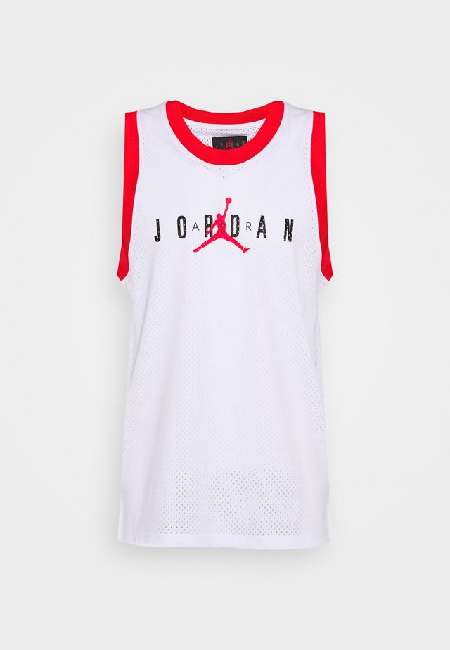 Top - white/university red/black