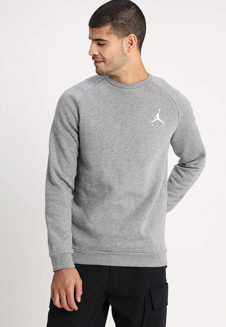 Jordan - JUMPMAN CREW - Sweatshirt - carbon heather/white