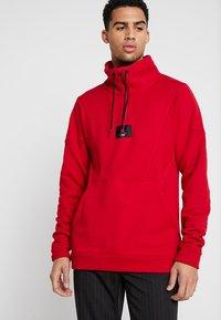 Jordan - FLIGHT LOOP 1/4 ZIP - Sweatshirt - gym red - 0
