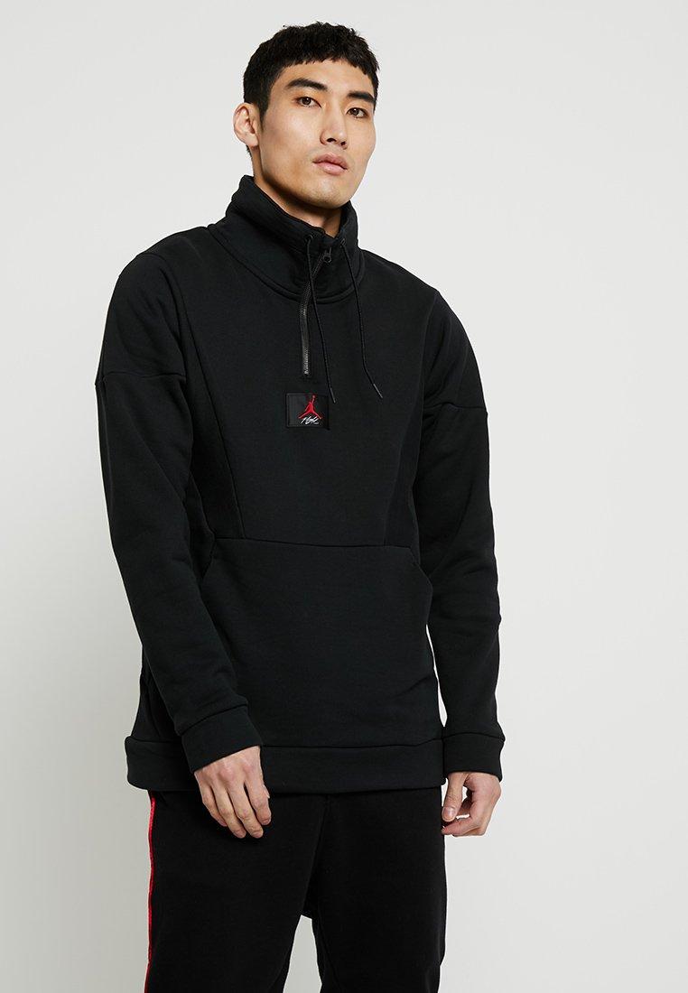 Jordan - FLIGHT LOOP 1/4 ZIP - Sweatshirt - black