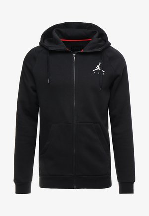 JUMPMAN  - Huvtröja med dragkedja - black/white