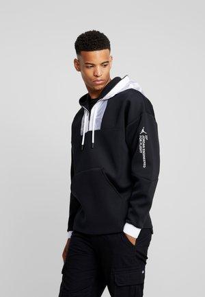 ZIP HOODIE - veste en sweat zippée - black/white