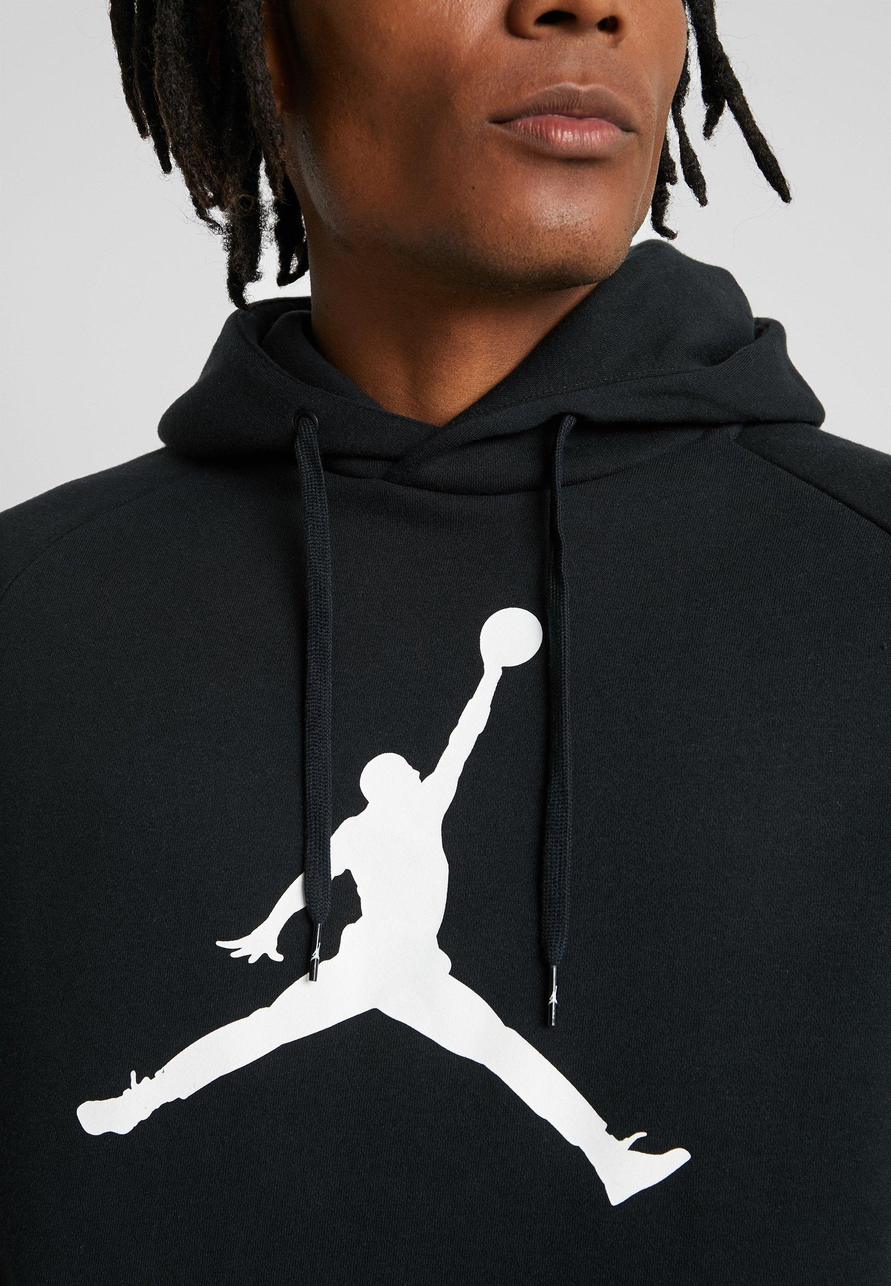 Jordan JUMPMAN LOGO - Bluza z kapturem - black/white