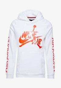 Jordan - JUMPMAN CLASSICS - Hoodie - white/infrared/metallic silver - 3