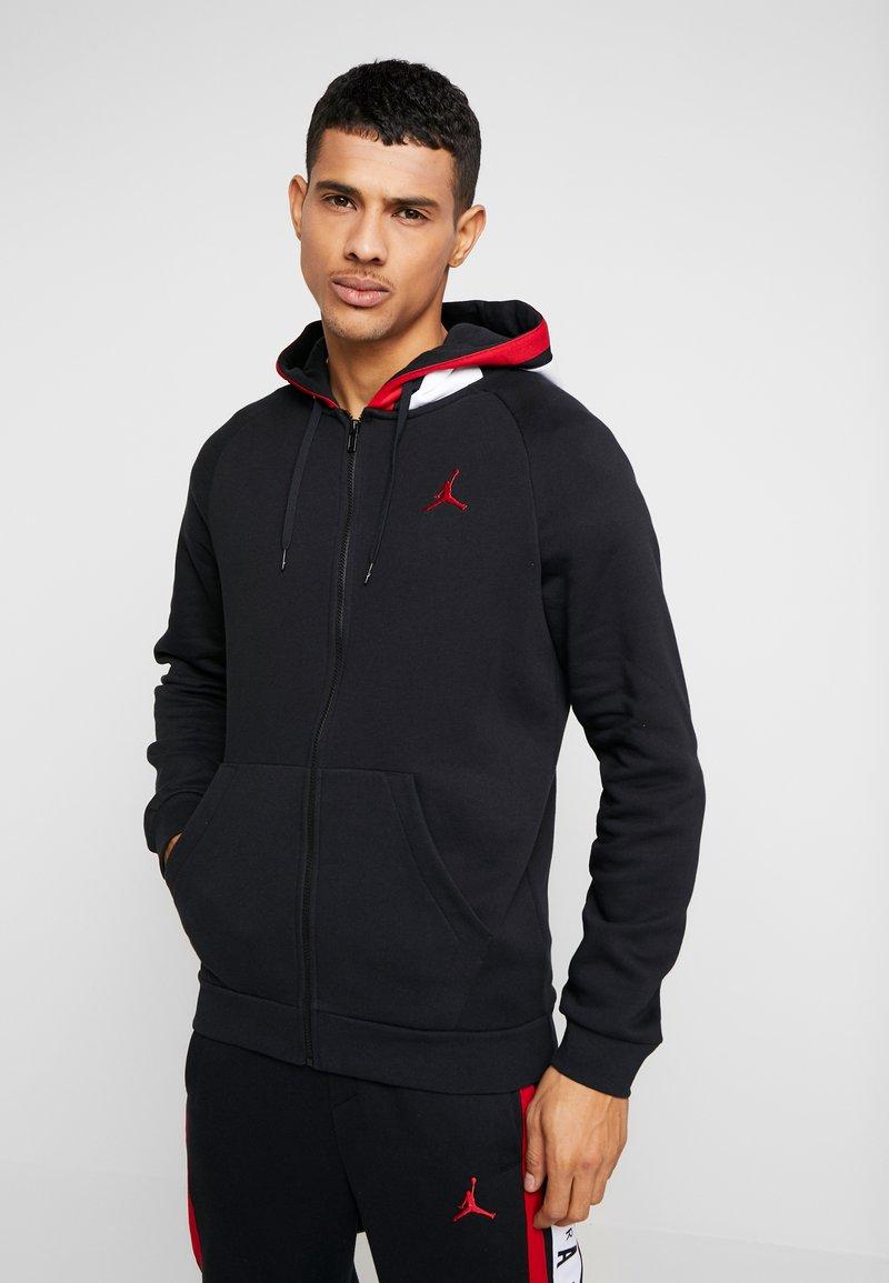 Jordan - AIR GRADIENT - veste en sweat zippée - black/white/gym red
