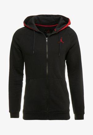 AIR GRADIENT - Hoodie met rits - black/white/gym red