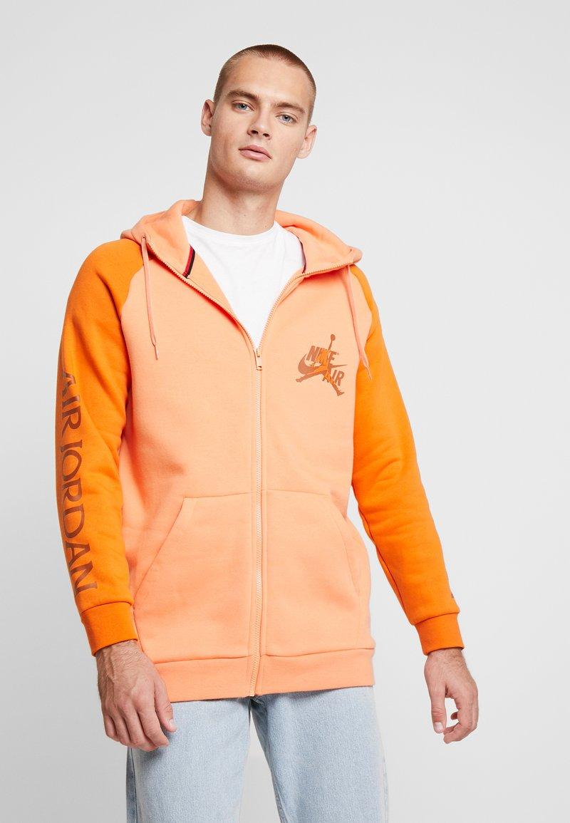 Jordan - JUMPMAN CLASSIC - Hoodie met rits - orange trance/starfish/dark russet