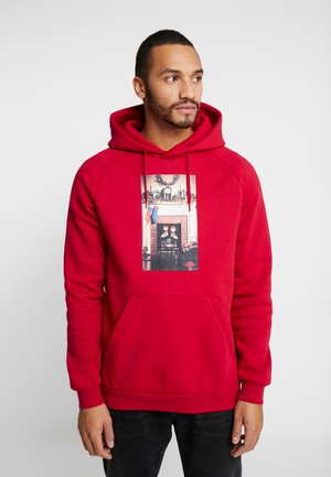 JUMPMAN CHIMNEY - Bluza z kapturem - gym red/black