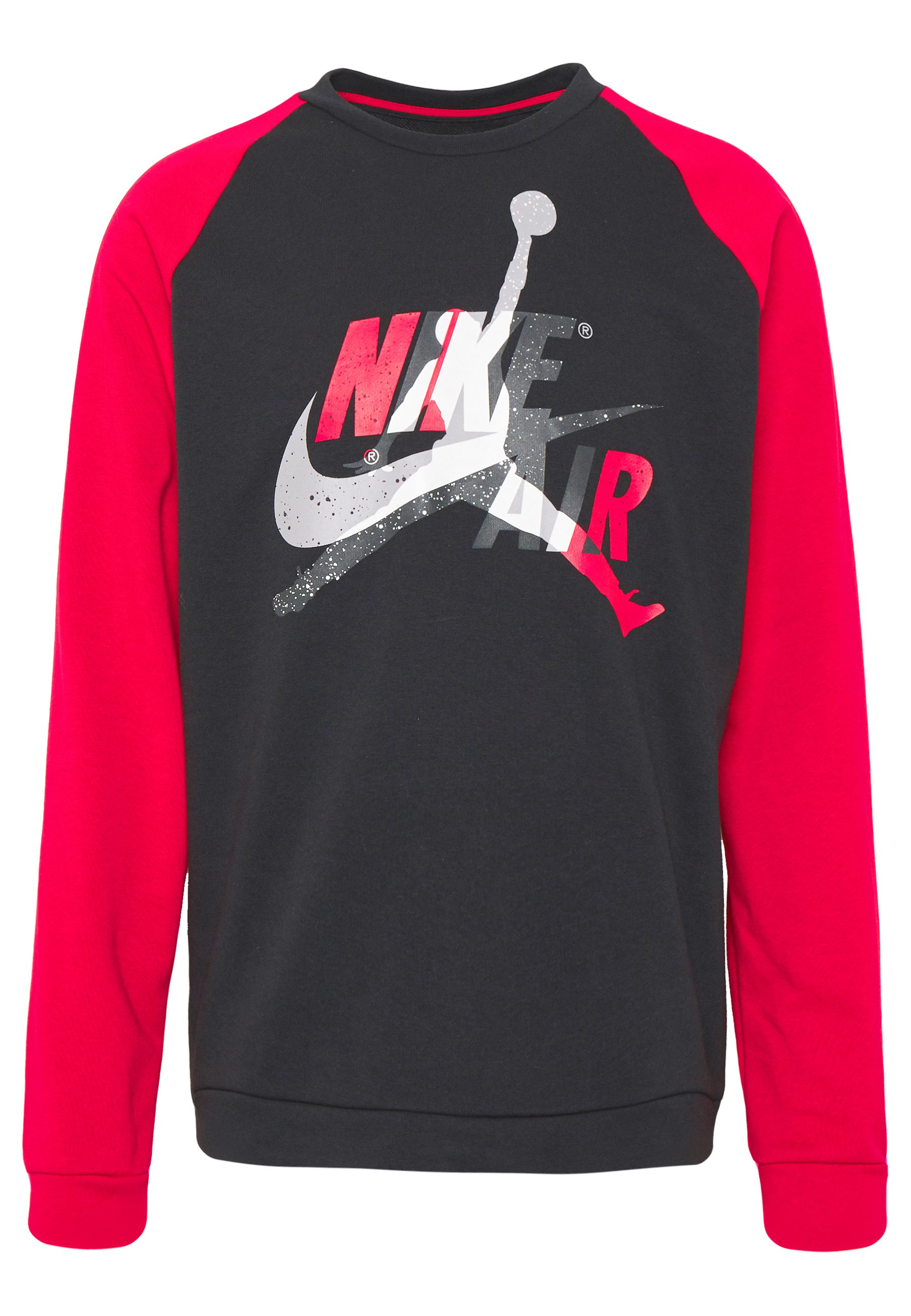 Jordan JUMPMAN CREW - Bluza - black/gym red