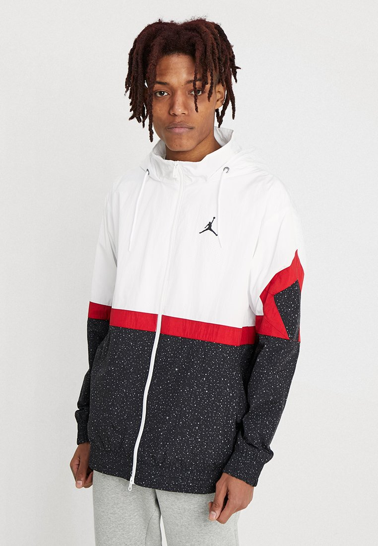 Jordan - DIAMOND CEMENT JACKET - Windbreaker - white/black/gym red