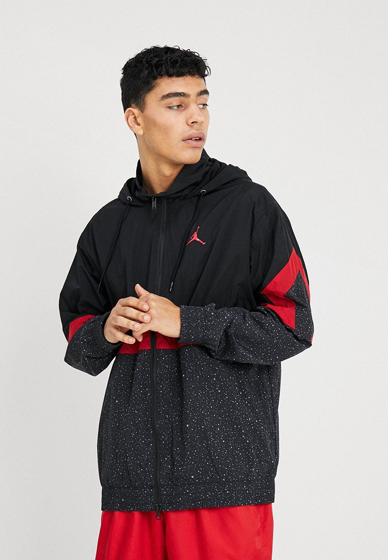 Nike Sportswear - DIAMOND CEMENT JACKET - Windbreaker - black/gym red