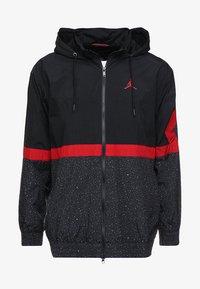 Jordan - DIAMOND CEMENT JACKET - Větrovka - black/gym red - 3