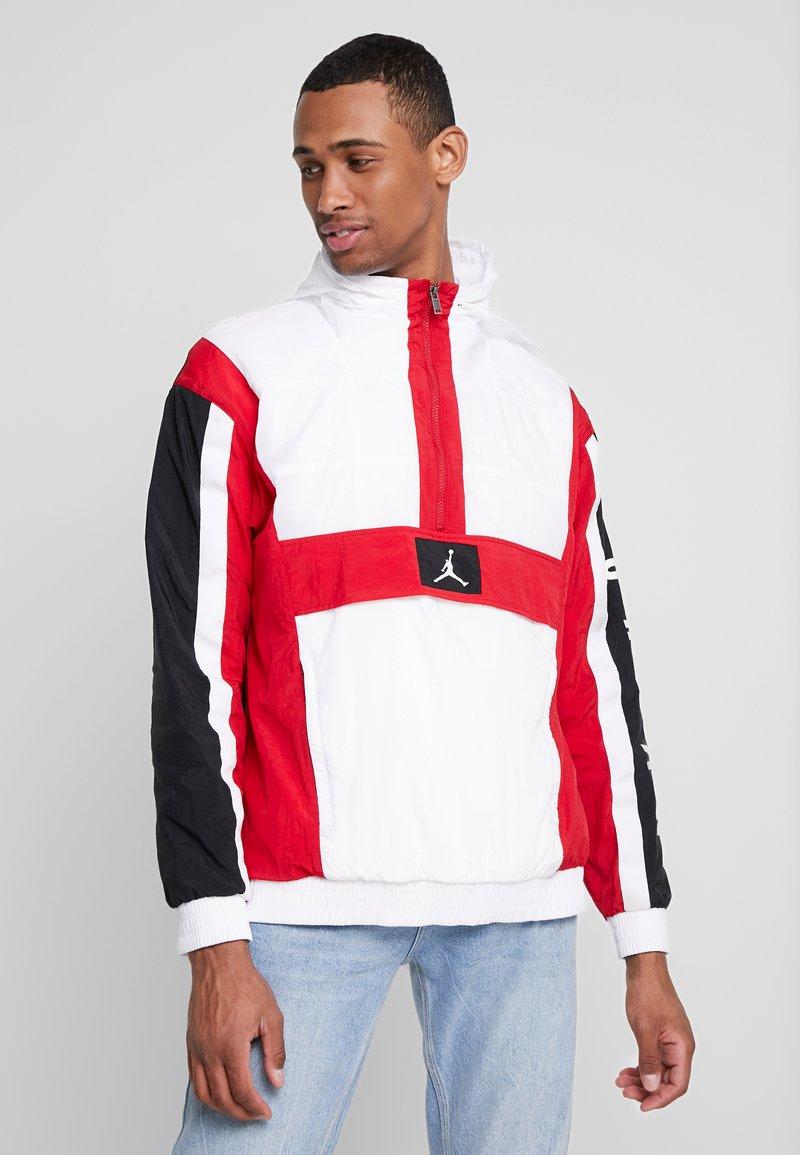 Jordan - WINGS WINDWEAR JACKET - Windbreaker - white/gym red/black/