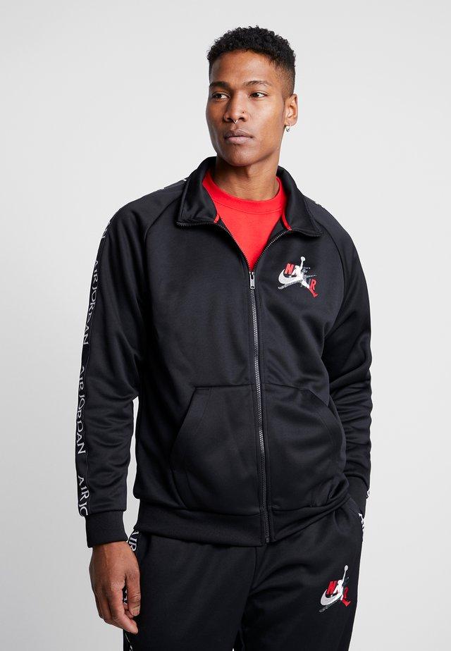 Training jacket - black/gym red/white