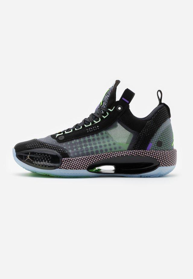 AIR XXXII - Basketball shoes - black/white/vapor green/bleached coral