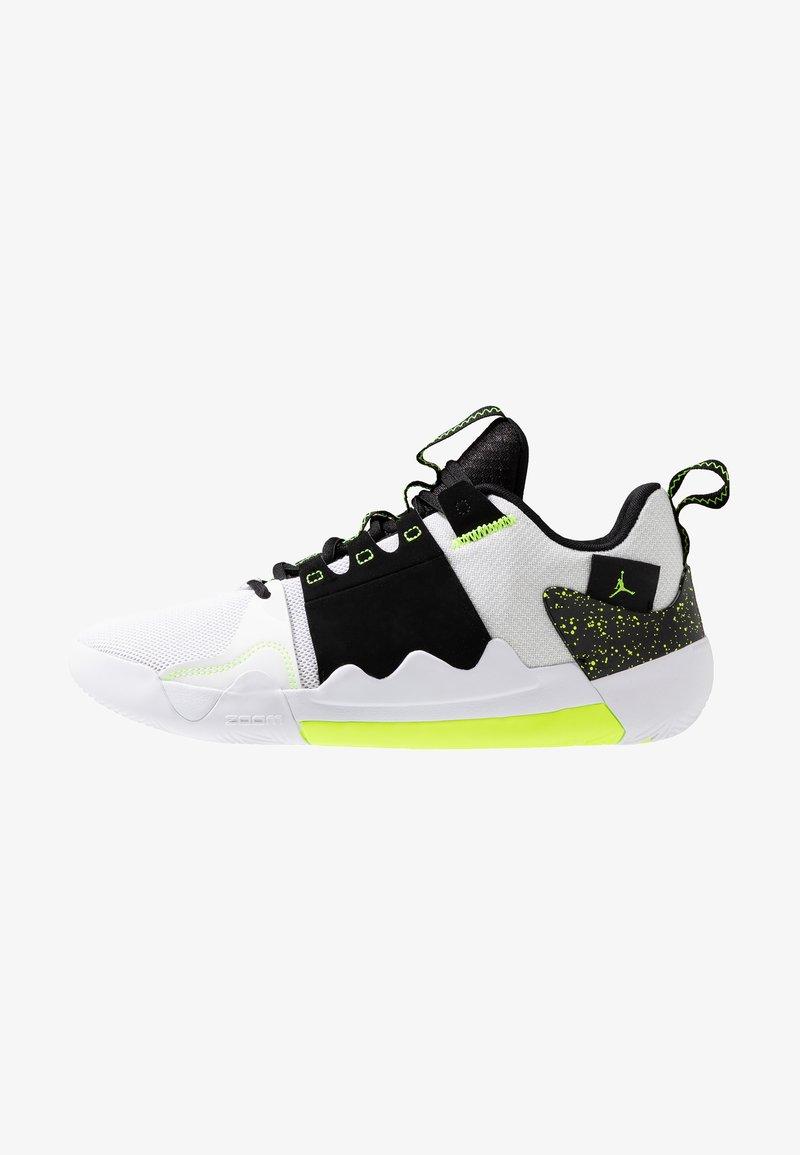 Jordan - Basketball shoes - white/volt/black
