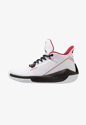 2X3 - Basketball shoes - white/black/gym red