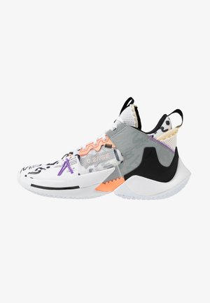 WHY NOT 0.2 SE - Chaussures de basket - white/orange pulse/black/particle grey/bright violet