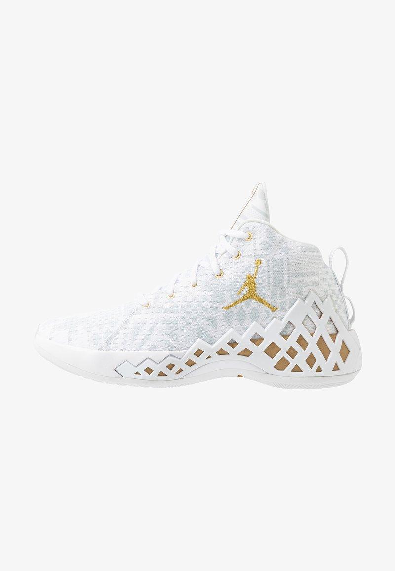 Jordan - JUMPMAN DIAMOND MID - Basketball shoes - white/metallic gold