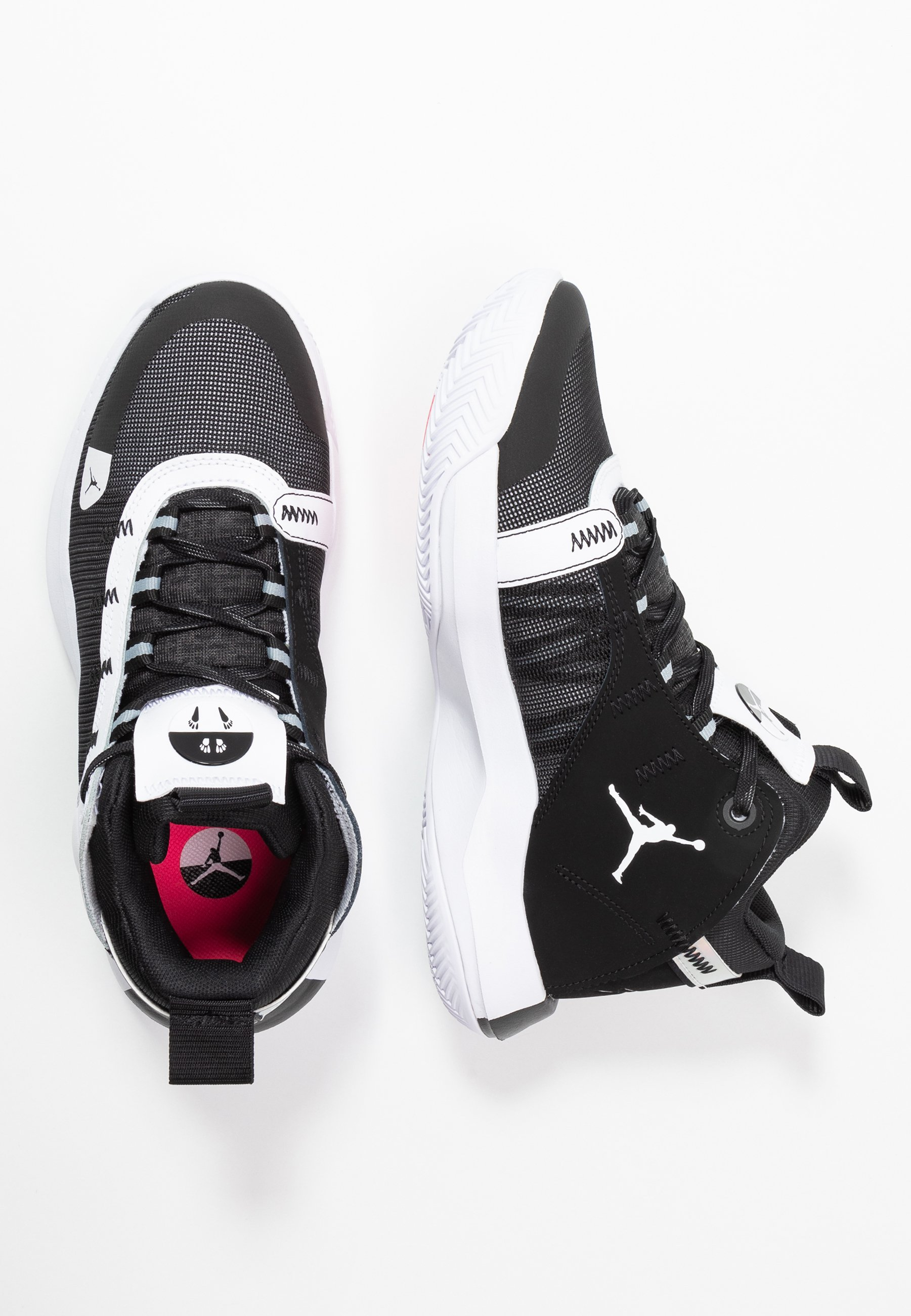 Jordan JUMPMAN 2020 - Obuwie do koszykówki - black/metallic silver/white/digital pink