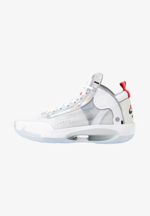 AIR XXXIV - Basketball shoes - white/metallic silver