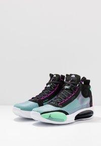 Jordan - AIR XXXIV - Koripallokengät - blue void/metallic silver/green glow/black/hyper violet/white - 2