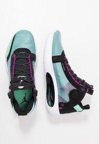Jordan - AIR XXXIV - Koripallokengät - blue void/metallic silver/green glow/black/hyper violet/white - 1