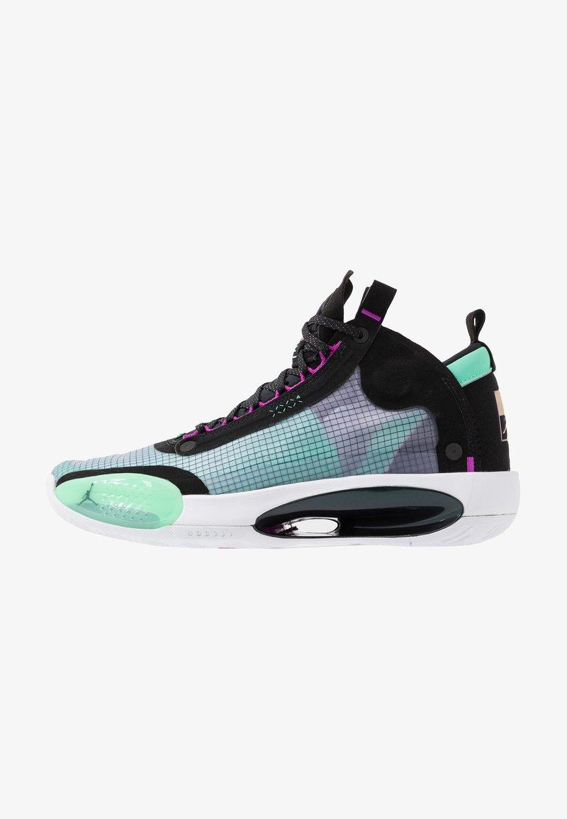 Jordan - AIR XXXIV - Koripallokengät - blue void/metallic silver/green glow/black/hyper violet/white