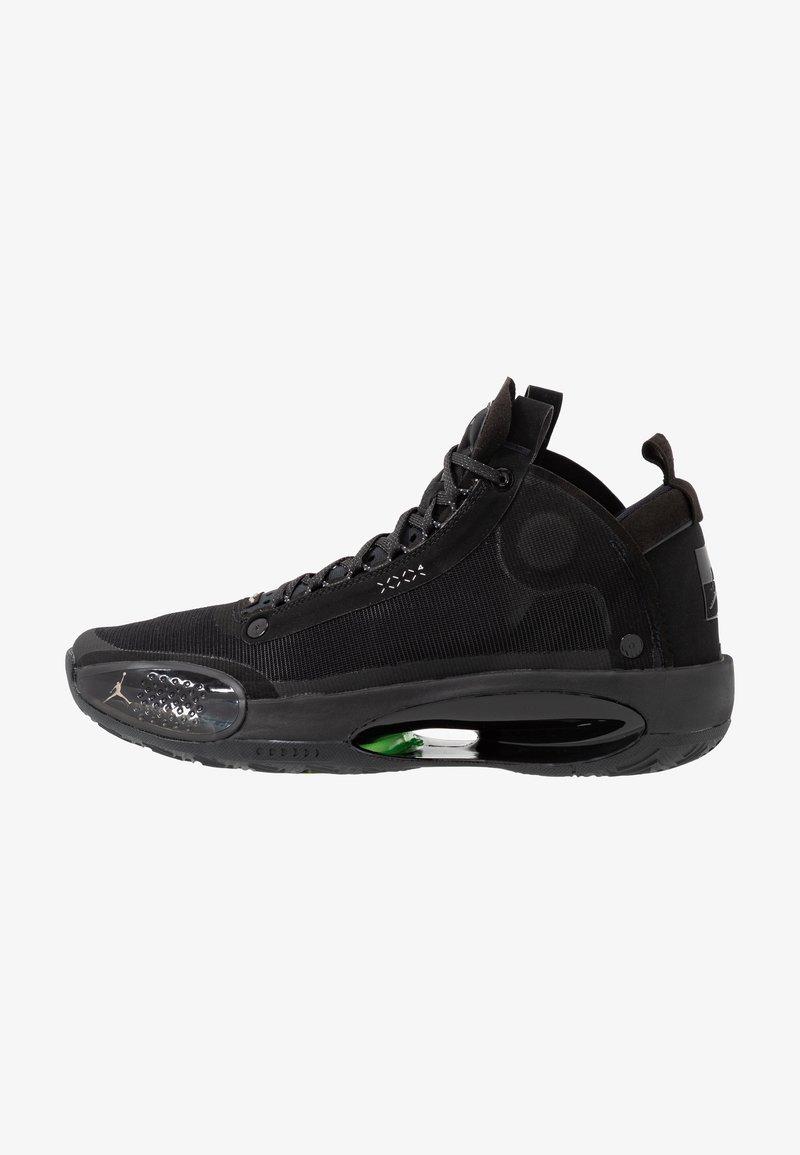Jordan - AIR XXXIV - Koripallokengät - black/dark smoke grey/electric green