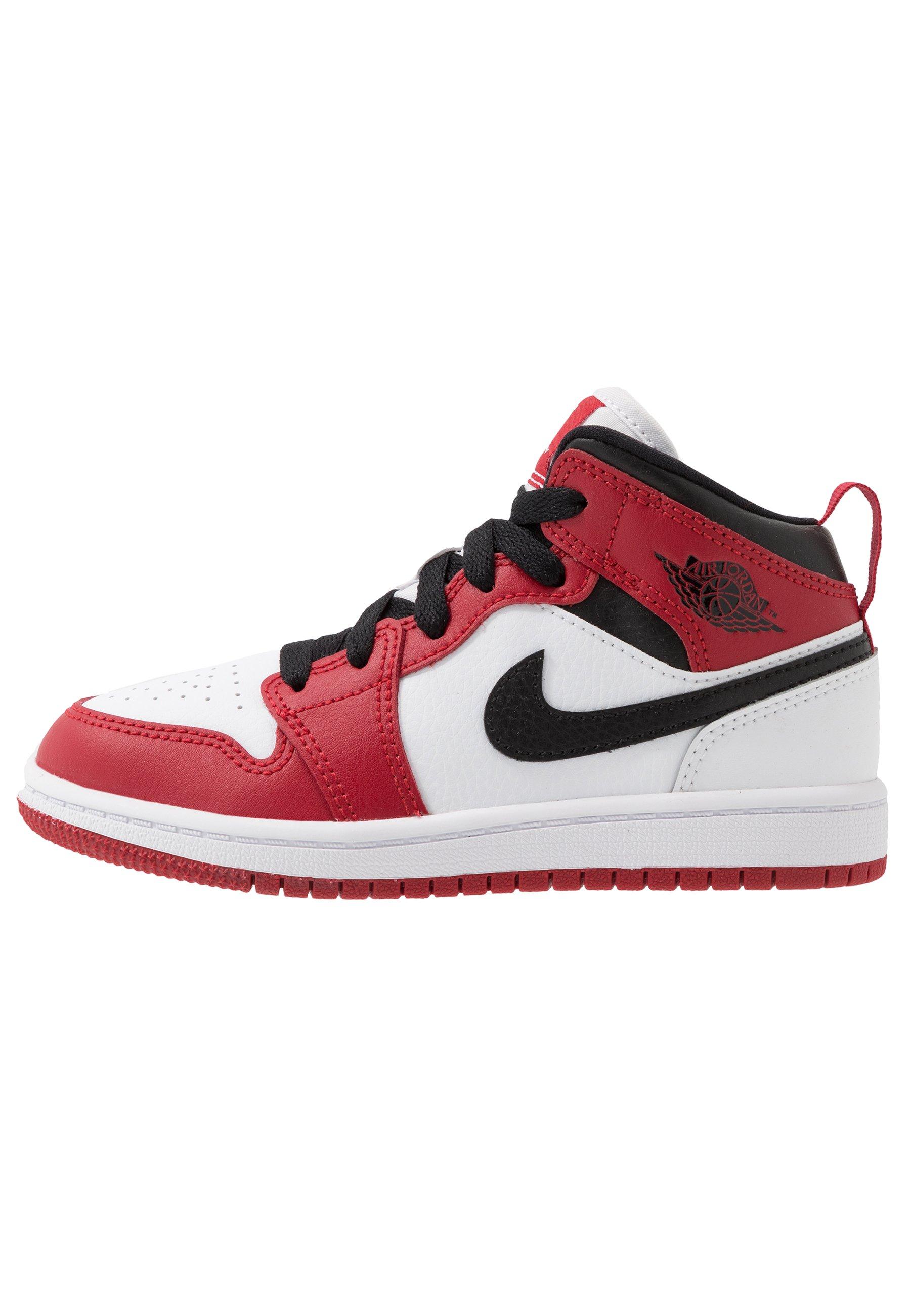 1 MID Basketbalschoenen whitegym redblack