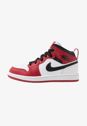 1 MID - Zapatillas de baloncesto - white/gym red/black