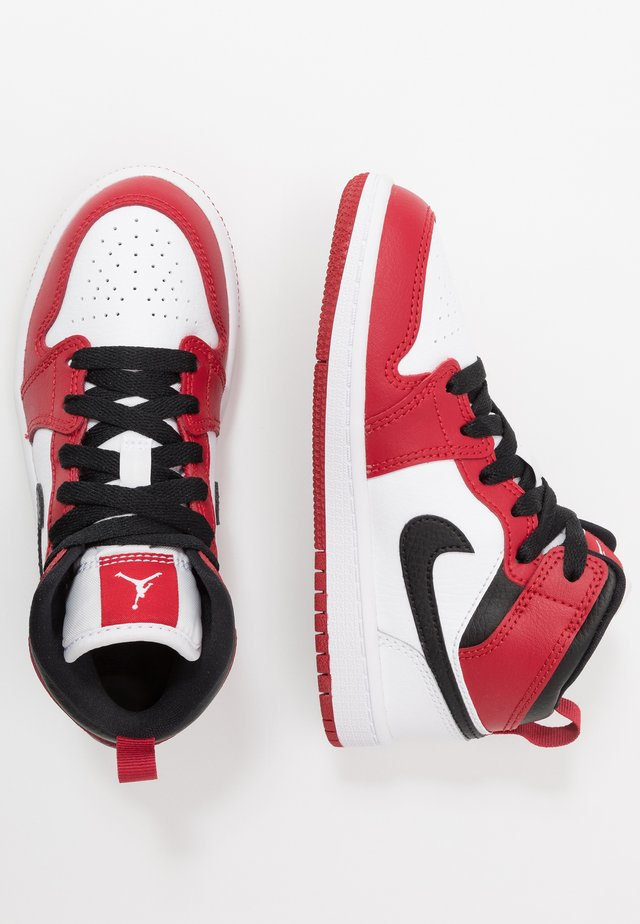 1 MID - Basketball shoes - white/gym red/black