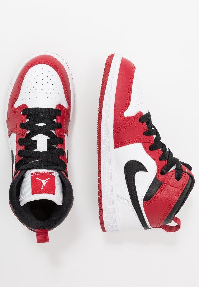 Jordan - 1 MID - Basketbalschoenen - white/gym red/black