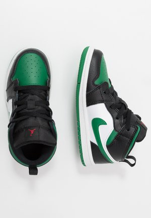 1 MID - Basketbalschoenen - black/pine green/white/gym red