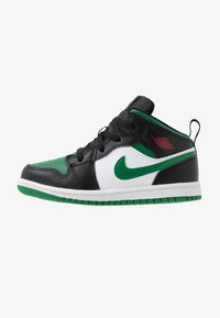 Jordan - 1 MID - Basketbalschoenen - black/pine green/white/gym red - 1