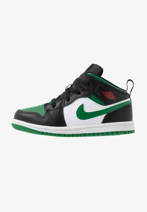AIR 1 MID - Basketball shoes - black/pine green/white/gym red