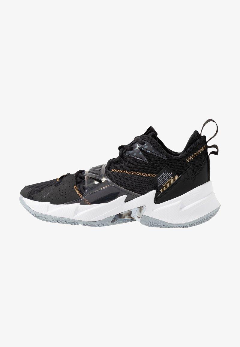 Jordan - WHY NOT ZER0.3 - Basketball shoes - black/metallic gold/white