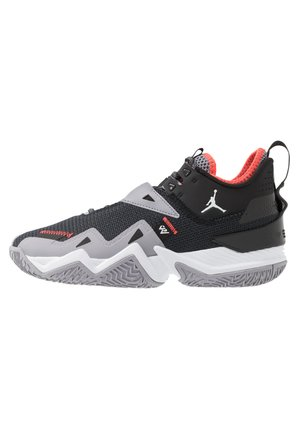 WESTBROOK ONE TAKE - Basketball shoes - black/white/cement grey/bright crimson