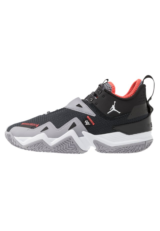 WESTBROOK ONE TAKE - Basketbalschoenen - black/white/cement grey/bright crimson