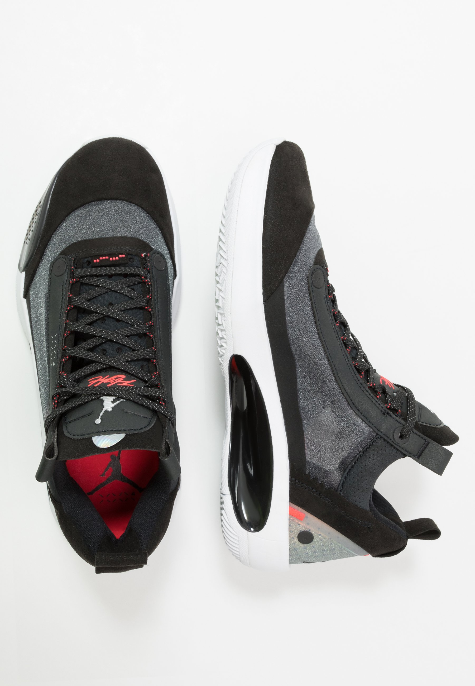 AIR XXXIV LOW Indoorskor blackmetallic silverwhitered orbit